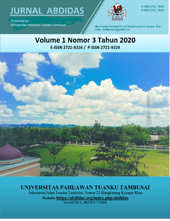 View Vol. 1 No. 3 (2020): Vol 1 No 3 July Pages 88-182