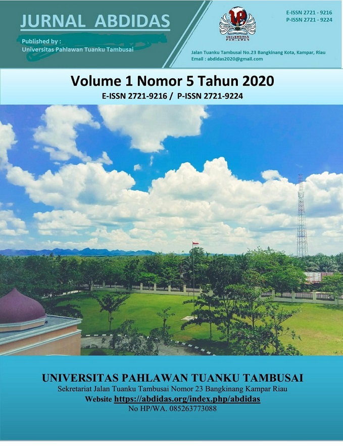View Vol. 1 No. 5 (2020): Vol 1 No 5 October Pages 306-486