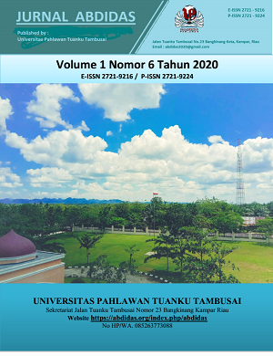 View Vol. 1 No. 6 (2020): Vol 1 No 6 In Press